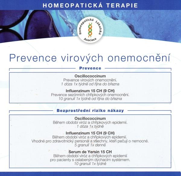 Léčba a rekonvalescence virových onemocnění.