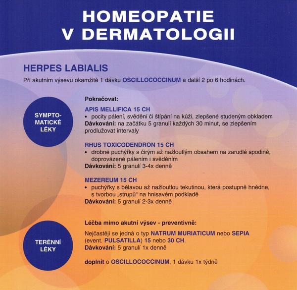 Homeopatie v dermatologii.